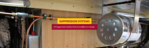 JTI Fire Suppression System - In use on a barge