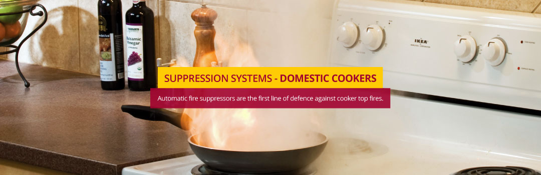 Domestic Cooker Fire Suppression System - This is the first line of defence against cooker top fires.